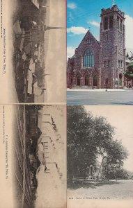 Lot of 4 Pennsylvania PA Postcards - HL-05