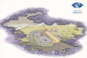Japanese Garden Karesansui, Quincenntenial Dream, Karesansui, Osaki, Japan,...