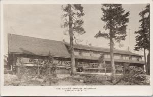 The Chalet Grouse Mountain Vancouver BC Unused EL Climo Real Photo Postcard E62