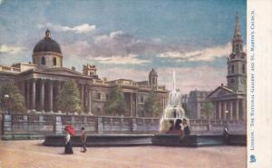 TUCK #770, LONDON, England, United Kingdom; The National Gallery and St. Mart...