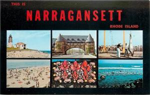 This Is Narragansett Rhode Island~Lighthouse~Lobster~Beach~Castle Arch~1960s