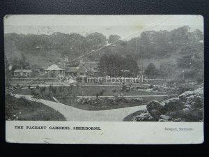 Dorset SHERBORNE The Pageant Gardens & Bandstand c1908 Postcard
