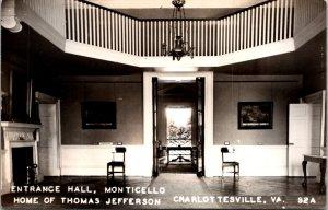 Monticello lot of 3 vintage RPPCs Jefferson tea room foyer tomb Charlottesville