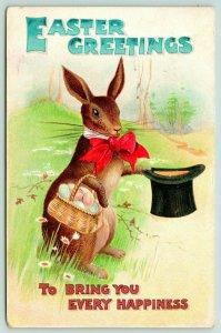 BB London Easter Fantasy~Rabbit Tips Top Hat~Red Bow Tie~Color Egg Basket~Emboss