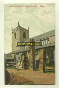 cu0524 - Parish Church , Ilkley , Yorkshire - postcard