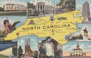 Map Of North Carolina Curteich