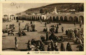 CPA AK Foum Tatahouine Le Marché ALGERIE (749201)