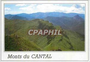 Modern Postcard Panorama of the Monts du Cantal Le Puy Griou alt 1694 puts fl...