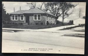 Postcard Unused Home of Felice Golino Patterson LA LB