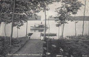 LAKE HUNTINGTON, New York, 1900-10s; Main Landing of Launch
