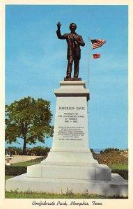 Civil War Post Cards Confederate Park, Jefferson Davis monument Memphis, Tenn...