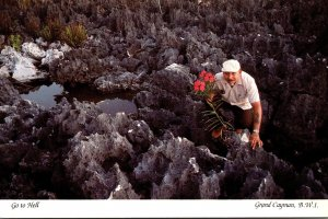 Grand Cayman Hell Man Collecting Flowers