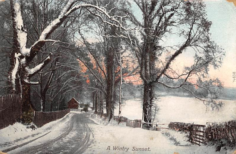 A wintry sunset Landscapes PU 1907