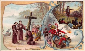 TC35 Arbuckles' Ariosa Coffee 1892, Quaker, Cross, British, Vintage Trade Card