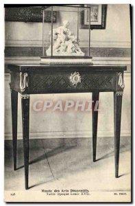 Old Postcard Musee des Arts Decoratifs Louis XVI table