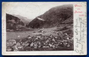 Gruss aus Andermatt Switzerland Swiss old postcard