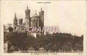 Old Postcard Lyon Basilica of Fourviere The Apse