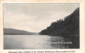 Mascoma Lake, Shaker Settlement Discernable Enfield, New Hampshire, NH, USA U...