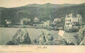 Postcard Croatia Lovrana Villen am sudlichen Strand