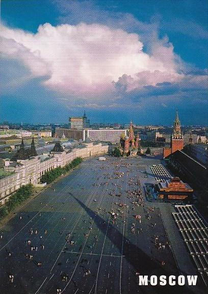 Russia Moscow View Of Red Square