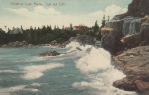 CHRISTMAS COVE , Maine , 1910 ; Surf and Cliffs