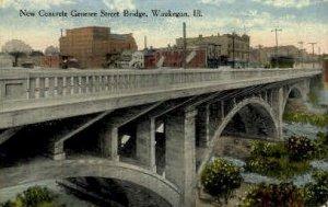 Concrete Genesee St. Bridge - Waukegan, Illinois IL