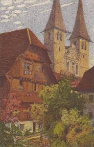 Switzerland Ernst Schlatter Hofkirche Mit Dem Alten Kaplanenhaus