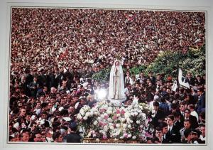 Fatima, Portugal, The good-bye to the Virgin Postcard