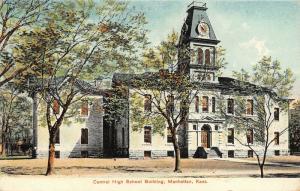Manhattan Kansas~Central High School Building~Victorian Style~Clock Tower~1909