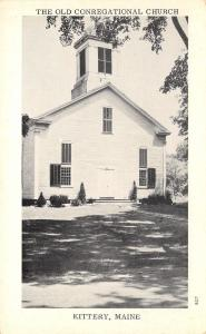 Kittery Maine (Old) First Congregational Church (Still in Use) 1953 B&W Glossy