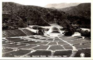 California Hollywood The Holywood Bowl Seating 20,000 Real Photo
