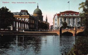 Potsdam, Germany, Konigl Stadschloss und Palast-Hotel, Early Postcard, Unused