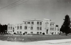 LPSS59 Libby Montana Lincoln County Court House Postcard RPPC