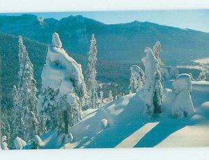 Chrome SKIING SCENE Snoqualmie - Near Seattle Washington WA AG4847