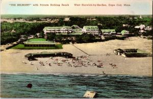 Belmont Hotel & Private Beach West Harwich-by-the-Sea Cape Cod Vtg Postcard P02