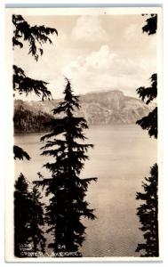 RPPC Rock Pillar, Crater Lake, OR Real Photo Postcard
