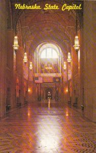Nebraska Lincoln State Capitol Building Main Hallway Looking Towards The Rotunda