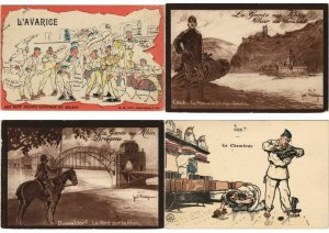 GUERRE MILITAIRE MILITARY 42 CPA MOSTLY WWI Pre-1940 (L3719)