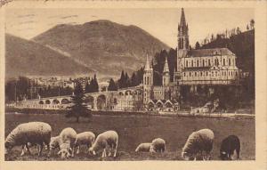 France Lourdes La Basilique et le Pic du Jer 1939