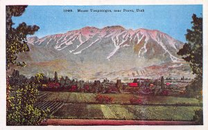 Mount Timpanogos, Near Provo, Utah, Early Postcard, Unused
