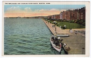 Boston, Mass, The Esplanade And Charles River Basin