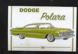 1961 DODGE POLARA CAR DEALER ADVERTISING POSTCARD '61 MOPAR GREEN CARS