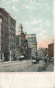 Rochester NY, New York - Exchange Street looking toward State - UDB