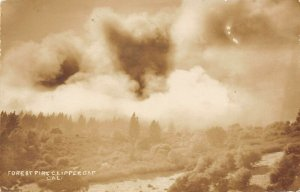 LP51 Clipper Gap near Auburn  California Postcard RPPC Forest Fire