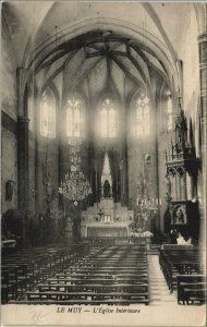 CPA LE MUY L'Eglise Interieure (1111727)