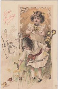 EASTER Greetings , Girls and Chicks, PFB #6925, 00-10s