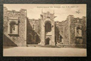 Mint Vintage Scottish National War Memorial from SW Edinburgh Scotland RPPC
