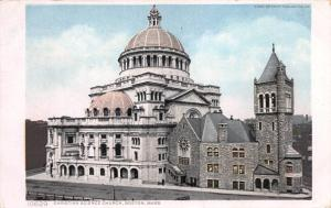 Christian Science Church, Boston, Massachusetts, Early Postcard, Used in 1910