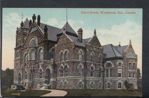 Canada Postcard - Court House, Woodstock, Ontario     RS15489