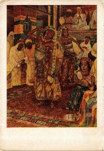 PC CPA ARABIAN TYPES AND SCENES, DANCING LADIES, Vintage Postcard (b17449)